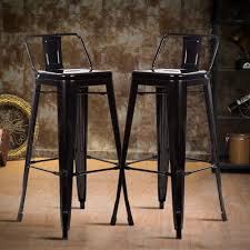 Details About 30 Metal Frame Tolix Style Bar Stools Industrial Chair With Backset Of 2