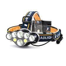 Đèn Pin LED đội đầu siêu sáng 8 bóng led (2T6+4XPE+2COB) - kèm 2 pin sạc
