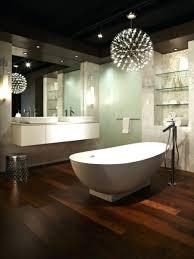 bathtub design chandelier over bathtub soaking tub mini awesome bathroom lighting featured freestanding design plus floating