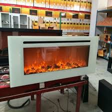 60 inch white panel double usage style selections electric fireplace