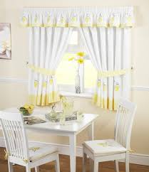 Lemon Decorations For Kitchen Beautiful Curtains For Kitchen With White And Lemon Pattern