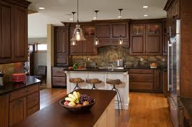 traditional kitchen design. Kitchen:Simple Brown Traditional Kitchen With Small Breakfast Bar Also Granite Tile Backsplash The Style Design N