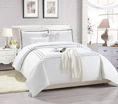 elegant duvet covers. Simple Elegant Super Soft Embroidered Line Elegant Duvet Cover 137 Cm X 200 Set  Bedding And Covers