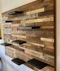reclaimed barn wood wall art with