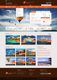 Booking Website Design Inspiration The Booking Travel Psd Template Travel Booking