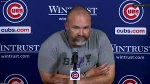 Chicago Cubs manager David Ross ...