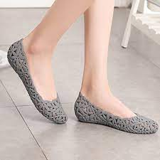 Giày búp bê nữ cao su dẻo thoáng mát cho ngày mưa - 300 giá cạnh tranh