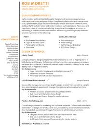 rob moretti web and graphic designer resume