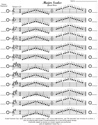 Treble Clef Music Major Scales Treble Clef Music Major Scale Music Sheet Music