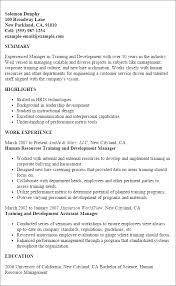 professional training and development templates to showcase your    resume templates  training and development