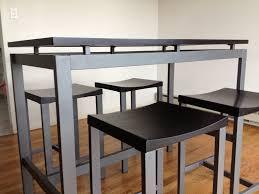 table height stools. minimalist dining table height stools