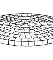 circular pattern patio pavers patterns t13 pavers
