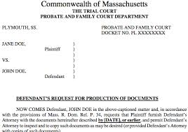 Sample Civil Complaint Form Extraordinary Discovery In Massachusetts Divorce Document Templates