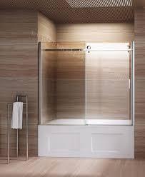 bath frameless sliding glass bathtub doors sliding doors ideas pertaining to frameless bathroom doors