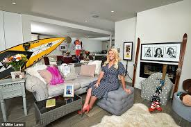 my haven chemmy alcott in the living room of her surrey home