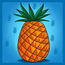 pineapple drawing. how to draw a pineapple drawing