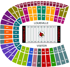 Detailed Seating Chart Papa Johns Cardinal Stadium