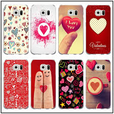 Valentine Hearts Phone Cases for Samsung Galaxy Note 5 8 S6 S7 S8 S9 Edge Plus