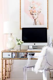 playroom and office. Glam Office, Home Bamboo Desk, Blogger Style Your Senses Playroom And Office