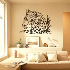leopard print decals for walls bedroom appealing awesome wall decal leopard tiger wild cat full size leopard print decals for walls