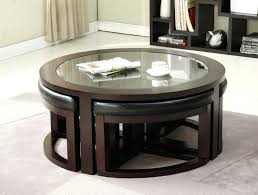 round coffee table with seating underneath round coffee table ottomans underneath design the wood coffee table