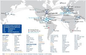 airlines route map north america from dallasfort worth