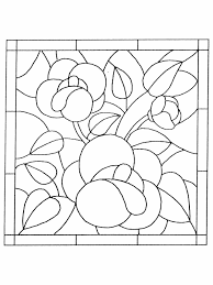 Flower Stained Glass Coloring Pages For Kids Coloringstar