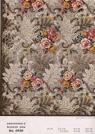 brown flower lineoleum rug