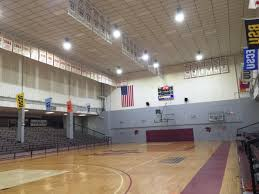 university replaces outdated metal halide gymnasium lighting with led retrofits
