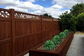 brown vinyl fence panels. Beautiful Fence Mocha Walnut Vinyl Fence Panel Inside Brown Vinyl Fence Panels O