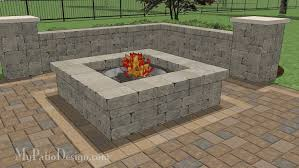 Wonderful Patio Ideas With Square Fire Pit 60 Roselawnlutheran And Design Inspiration