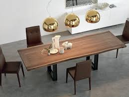 wood extendable dining table walnut modern tables: brown wooden retangle expandible dinning table with leaf under brass pendant lamp added with chair on grey floor as well as dining extension table and