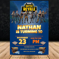 Birthday Invatations Fortnite Birthday Invitation Fornite Party Invitation Design 2