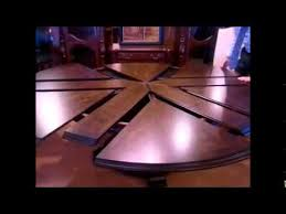 80 round dining table with self storing leaves from mahogany and more you