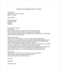 Sample Notice Letters 49 Resignation Letter Examples Examples