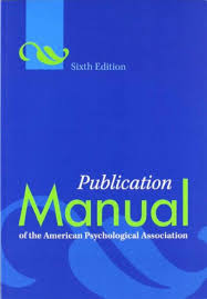 Sell Buy Or Rent Publication Manual Of The American Psychological A