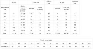 43 Logical Armani Jacket Size Chart