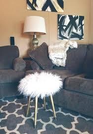 fur vanity stool white faux fur stool metallic gold wood legs white fake fur vanity or desk stool regency modern f diy fur vanity chair