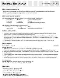 Mechanic Resume Sample Aircraft Technician Resume Therpgmovie 2