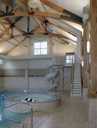 indoor pool with slide home. Indoor Pool, Hot Tub And Water Slide. | House Ideas Such \u2026 Pool With Slide Home
