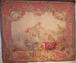 French Rococo Artist And Tapestry Designer French Louis Xv Beauvais Style Tapestry In Boucher Rococo
