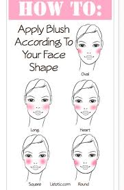 in order to apply blush where it will be most flattering on you first determine your face shape blush not only adds color but also contours and defines