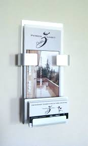 wall hanging business card holder wall business card holder incredible pictures outdoor brochure and mounted holders