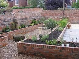 brick raised garden beds