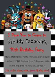 Invitation Layout Free Five Nights At Freddys Invitation Template Free Brianhprince