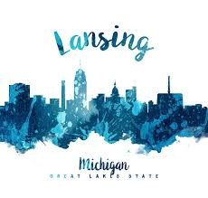 lansing painting lansing michigan skyline 27 by aged pixel