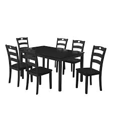 Amazoncom Harper Bright Designs 7 Pieces Dining Table Set For 6