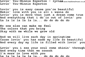 love song lyrics for lovin you minnie riperton love song lyrics for lovin you minnie riperton
