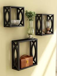 home sparkle set of 3 cube wall shelves
