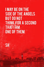 Sherlock Holmes Quote Side Of Angels Wall Art Poster Fine Art